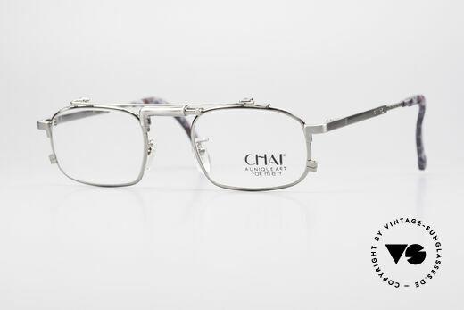 Chai No4 Square Industrial Vintage Brille 90er Details