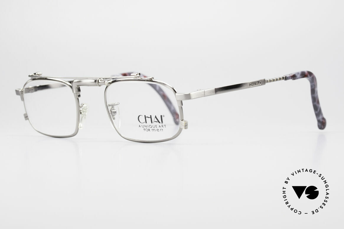 """Chai No4 Square Industrial Vintage Brille 90er, gilt daher unter Optikern als """"Wasserhahn-Brille"""", Passend für Herren und Damen"""