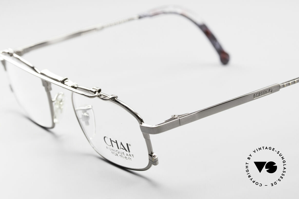 Chai No4 Square Industrial Vintage Brille 90er, vintage 'Industrial Design' wäre jedoch passender, Passend für Herren und Damen