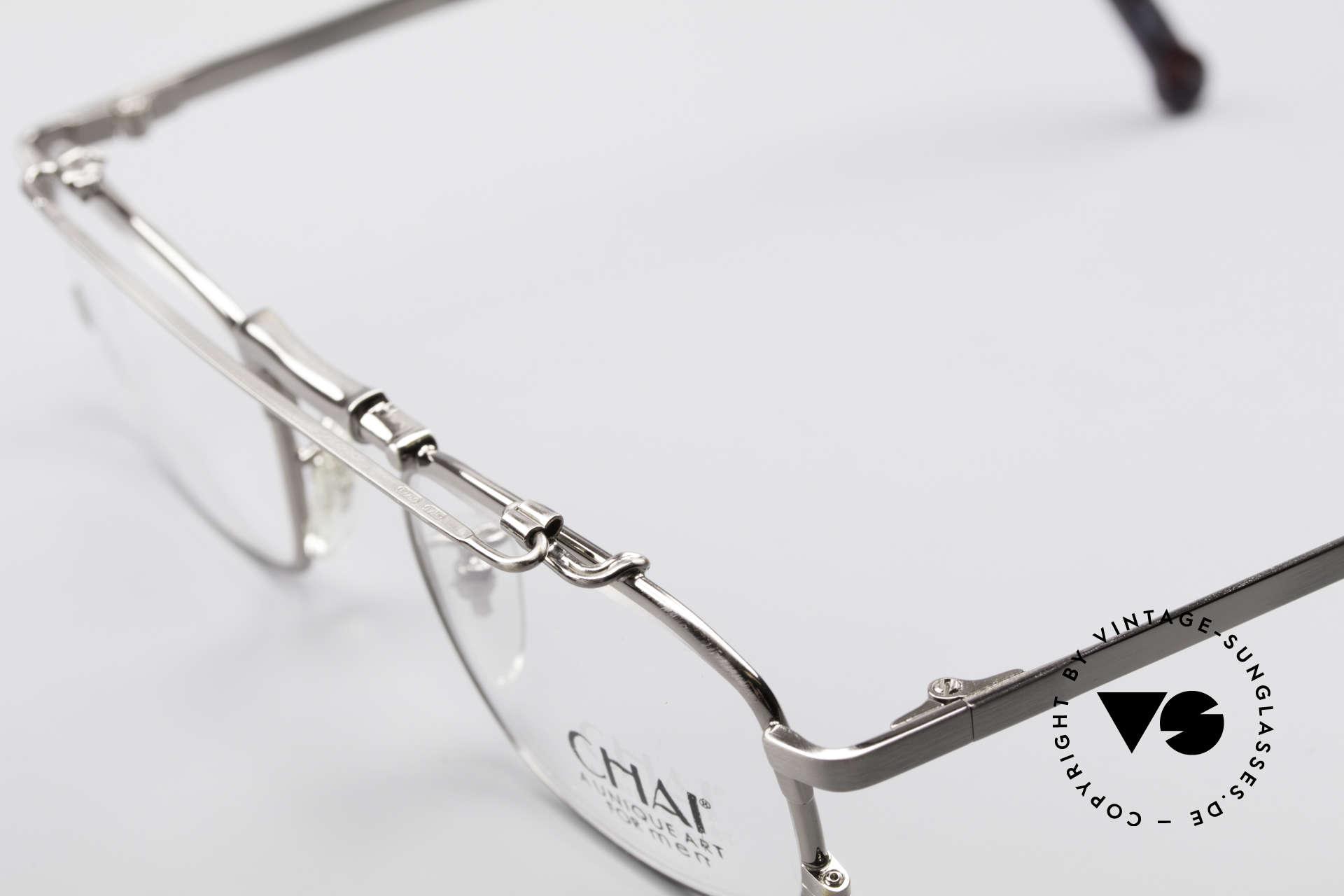 Chai No4 Square Industrial Vintage Brille 90er, wie auch immer: eine extrem hochwertige Fassung, Passend für Herren und Damen