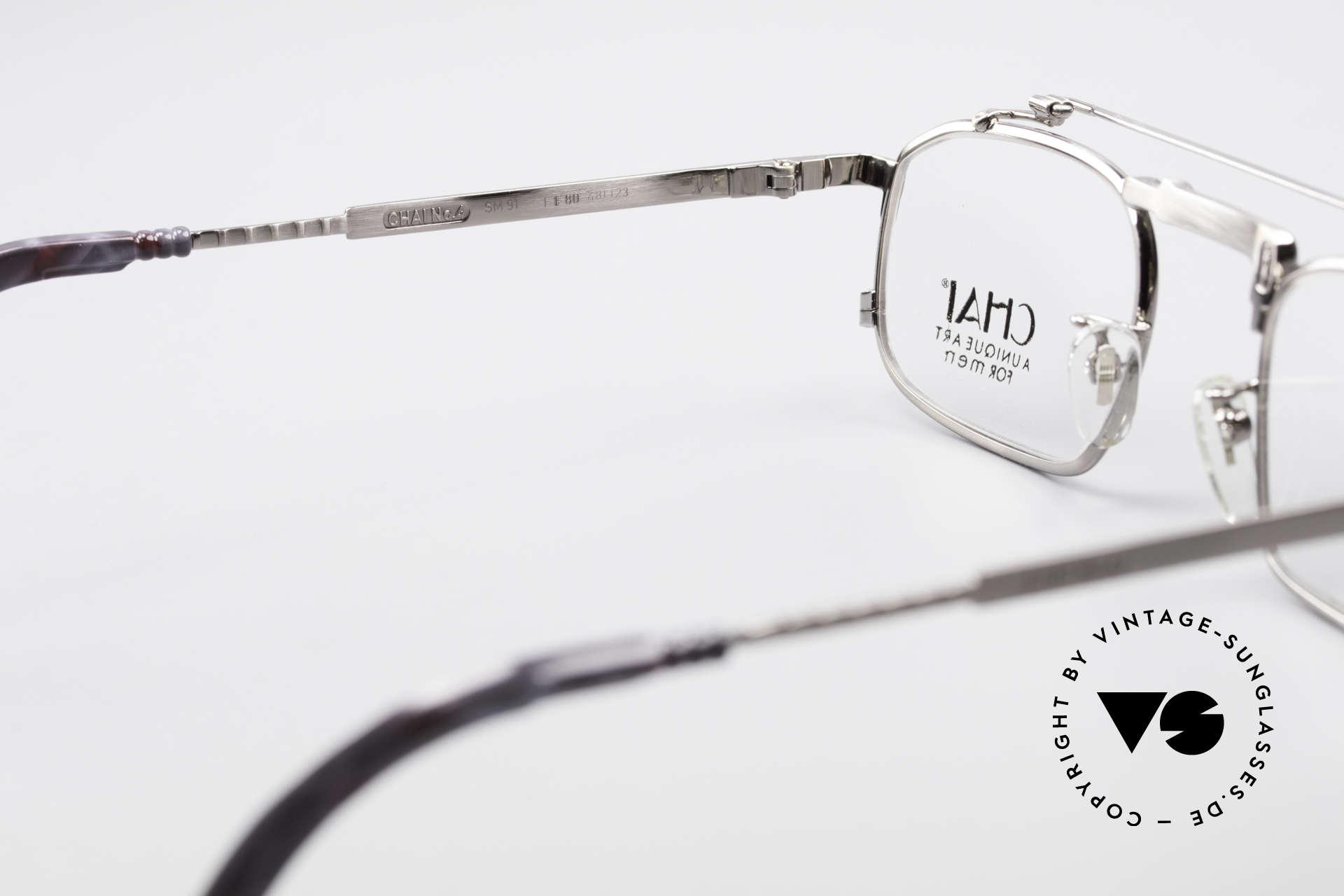 Chai No4 Square Industrial Vintage Brille 90er, KEINE RETRObrille; sondern ein altes ORIGINAL, Passend für Herren und Damen