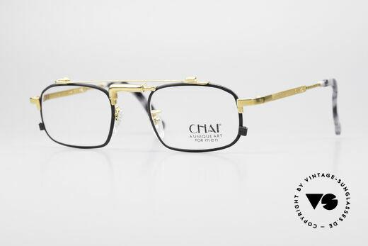 Chai No4 Square Vintage Industrial 90er Brille Details