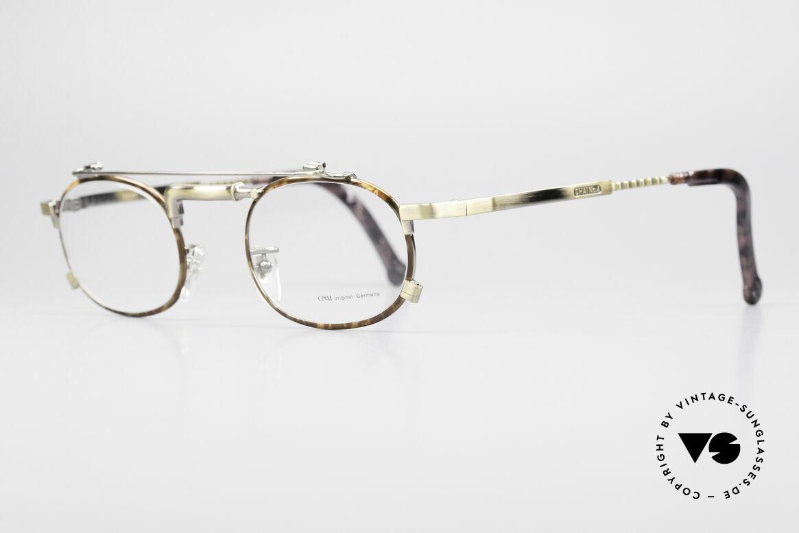 """Chai No4 Oval Vintage Brille Industrial 90er, gilt daher unter Optikern als """"Wasserhahn-Brille"""", Passend für Herren und Damen"""