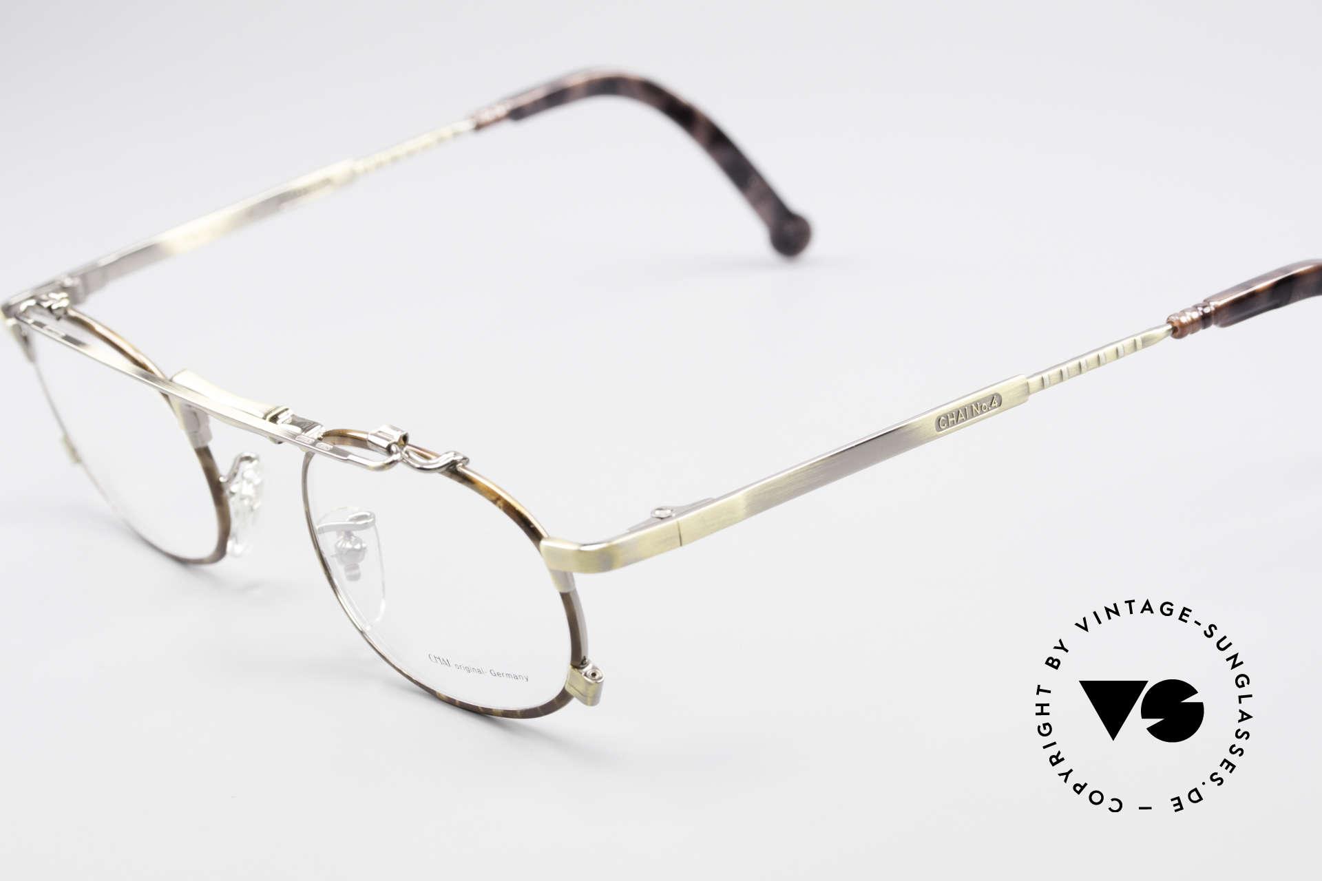 Chai No4 Oval Vintage Brille Industrial 90er, vintage 'Industrial Design' wäre jedoch passender, Passend für Herren und Damen