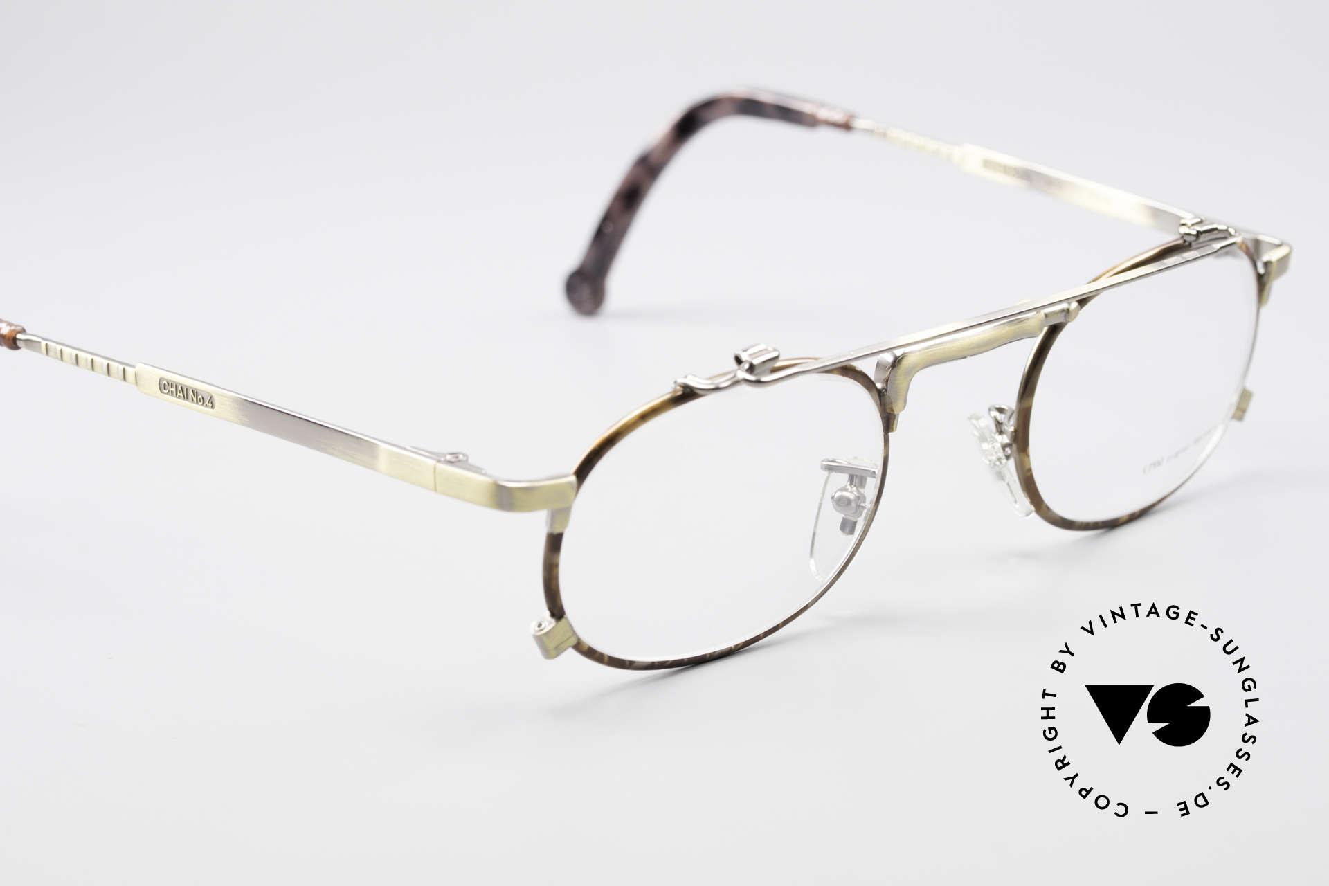 Chai No4 Oval Vintage Brille Industrial 90er, wie auch immer: eine extrem hochwertige Fassung, Passend für Herren und Damen