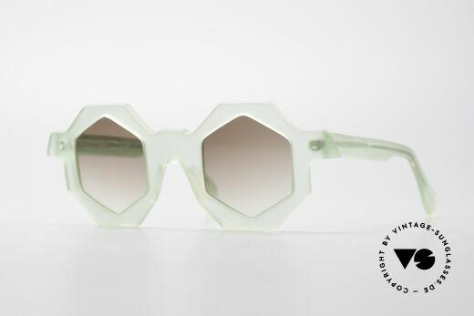 Alain Mikli 0157 / 938 Sechseckige 80er Sonnenbrille Details