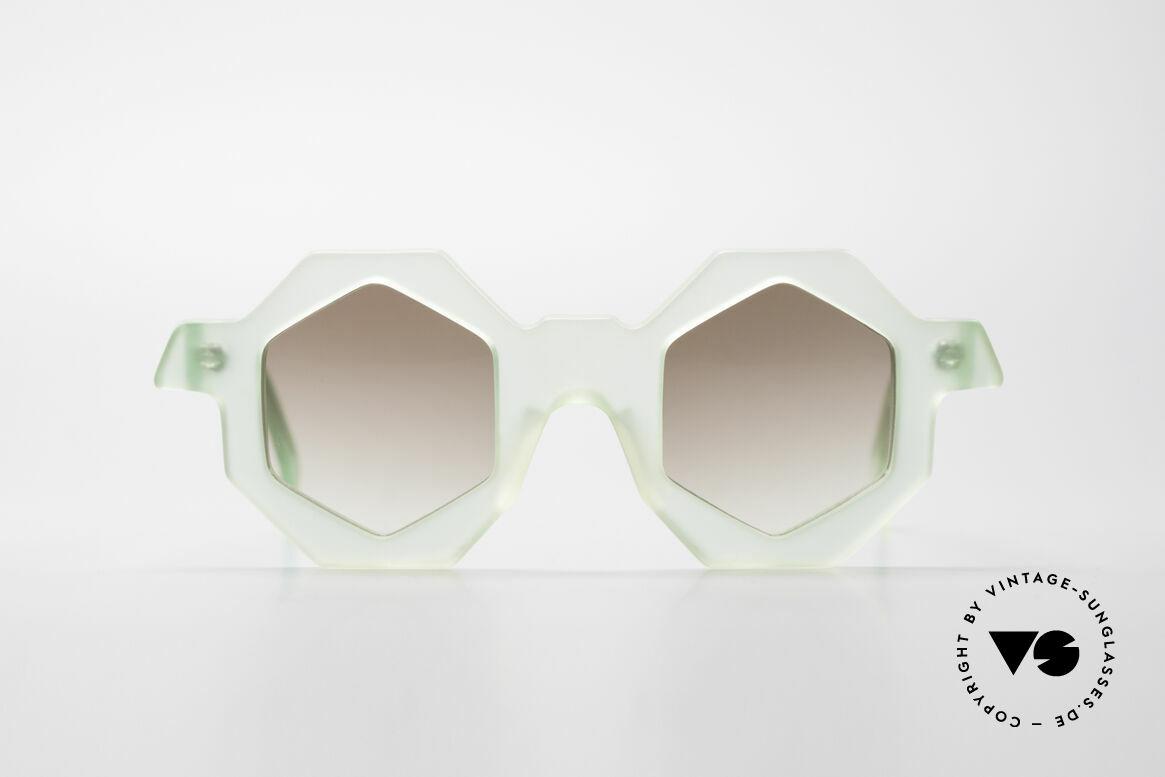 Alain Mikli 0157 / 938 Sechseckige 80er Sonnenbrille, vintage Designer-Sonnenbrille von Alain MIKLI, Passend für Damen