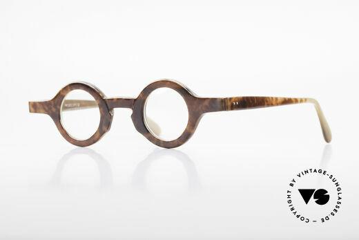 Proksch's P218 Runde Büffelhorn Brille 80er Details