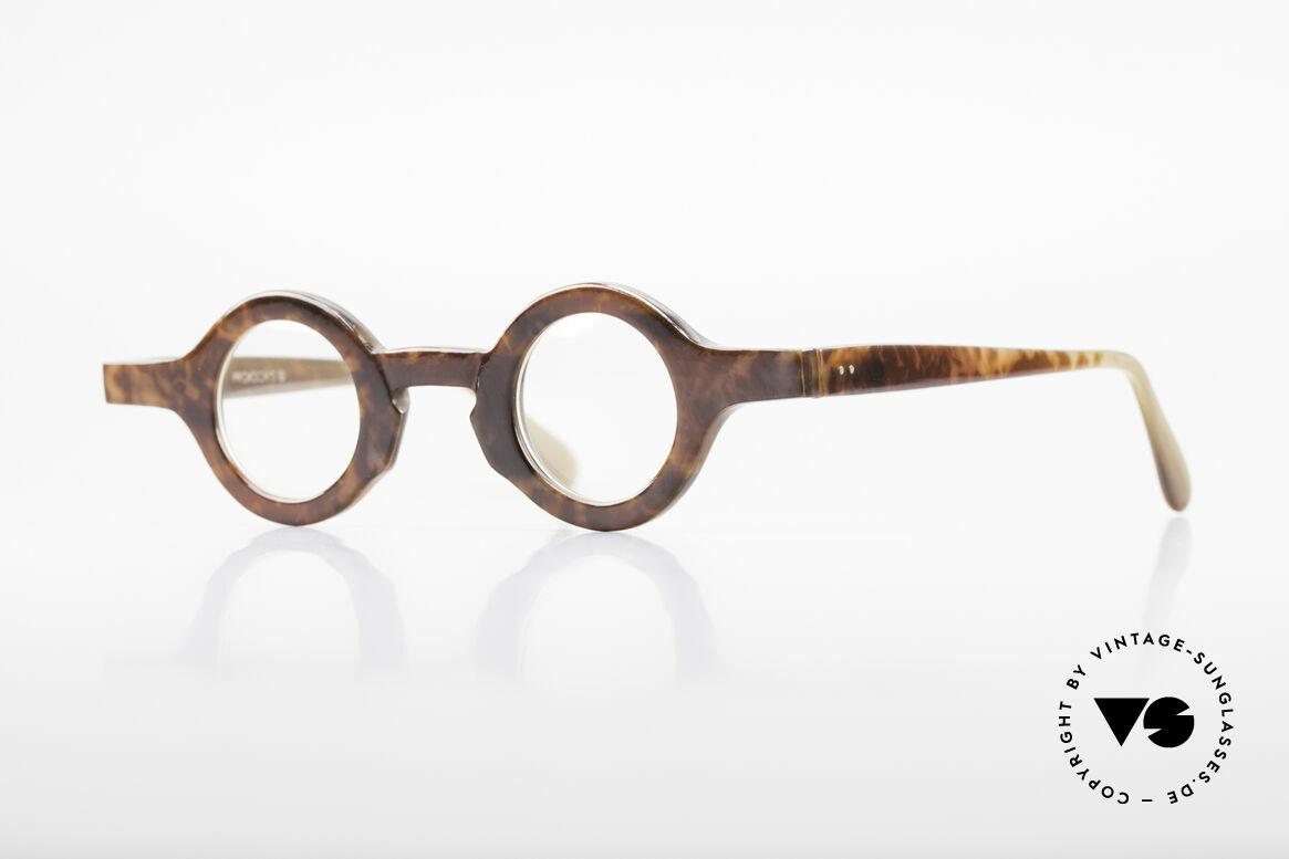 Proksch's P218 Runde Büffelhorn Brille 80er, markante, runde Echthorn-Brillenfassung von Proksch, Passend für Herren und Damen