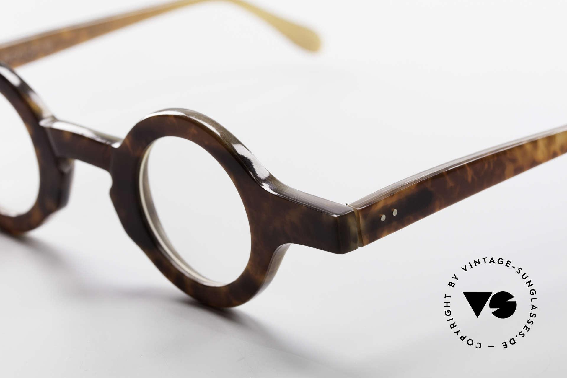 Proksch's P218 Runde Büffelhorn Brille 80er, absolutes Sammlerobjekt (gehört eher in ein Museum), Passend für Herren und Damen