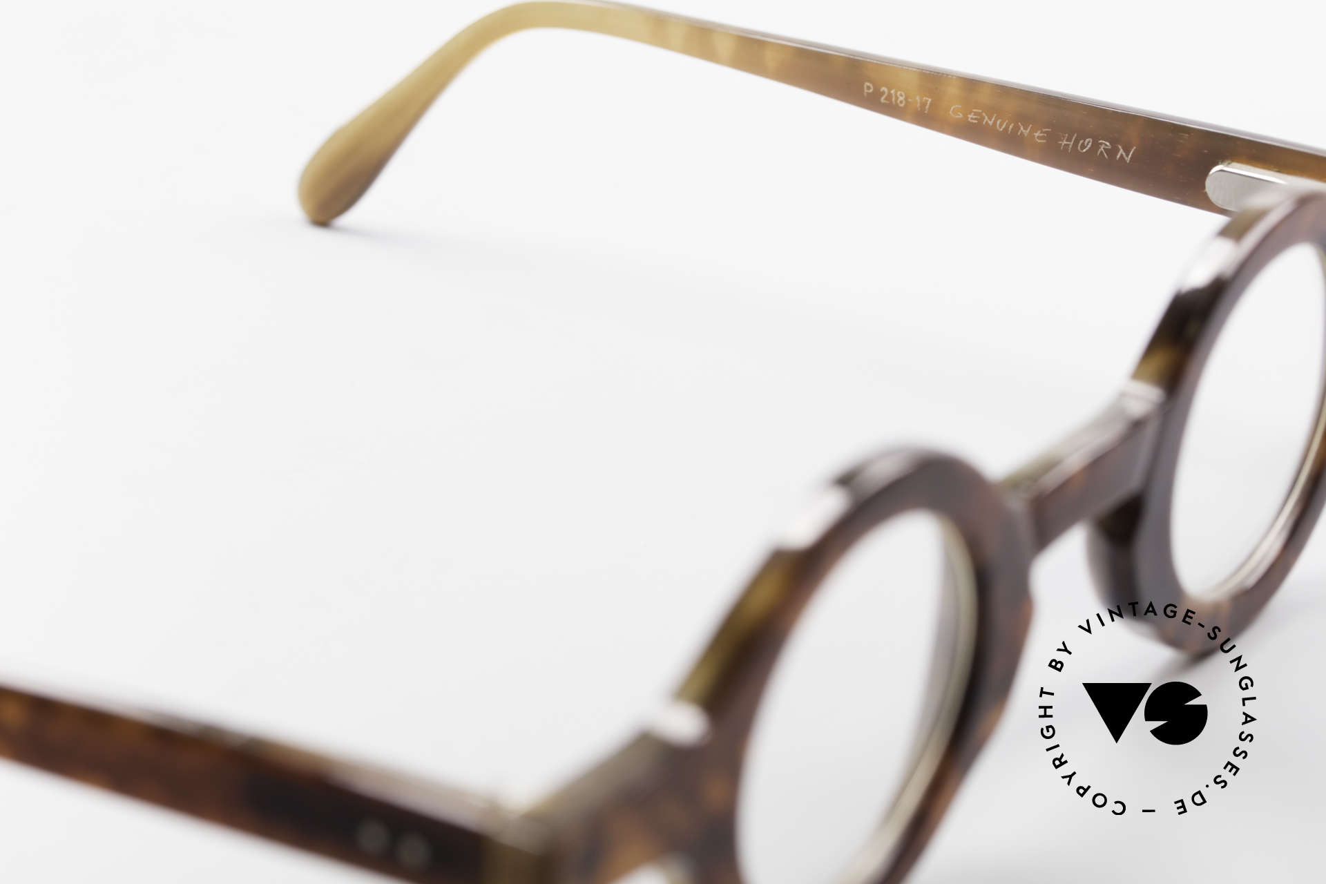 Proksch's P218 Runde Büffelhorn Brille 80er, echtes UNIKAT: heutzutage gar nicht mehr zu bekommen, Passend für Herren und Damen