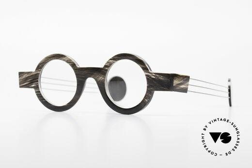 P. Klenk Bold 023 Horn Brille Eindrehbare Bügel Details