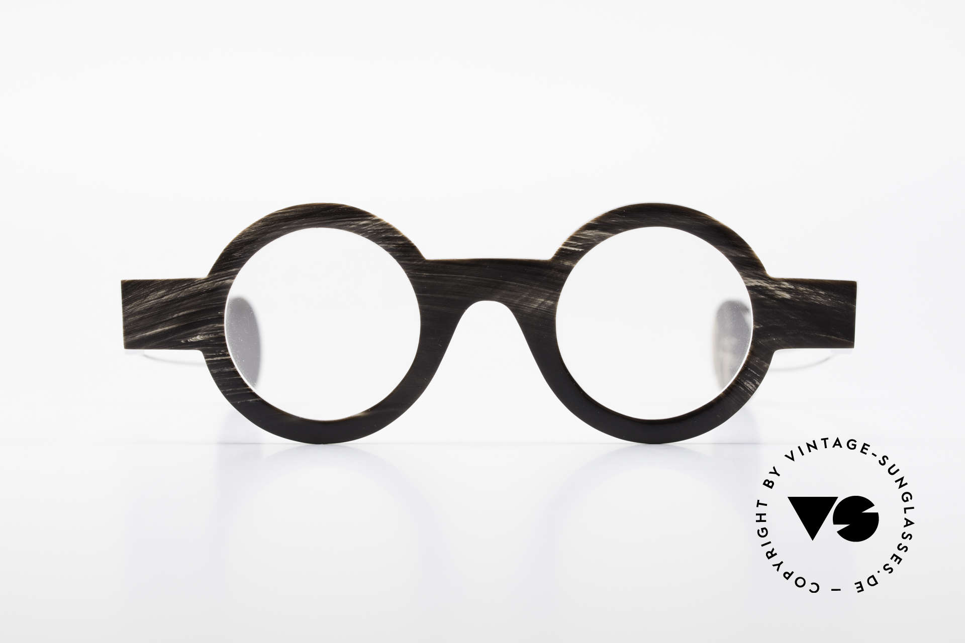 P. Klenk Bold 023 Horn Brille Eindrehbare Bügel, absolute Rarität aus Büffelhorn in Handarbeit gefertigt, Passend für Herren und Damen