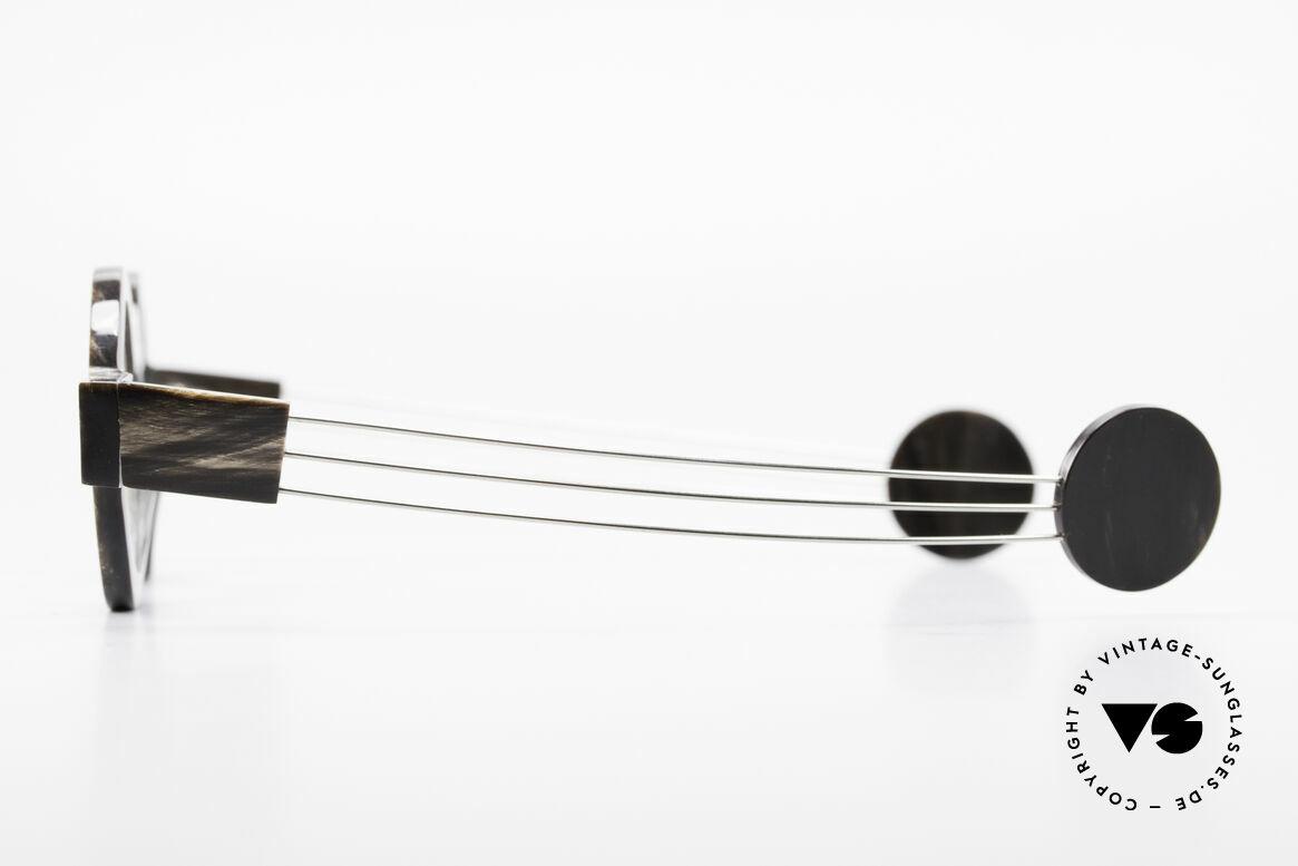 P. Klenk Bold 023 Horn Brille Eindrehbare Bügel, mit eindrehbaren Metall-Bügeln (originelles Gimmick), Passend für Herren und Damen