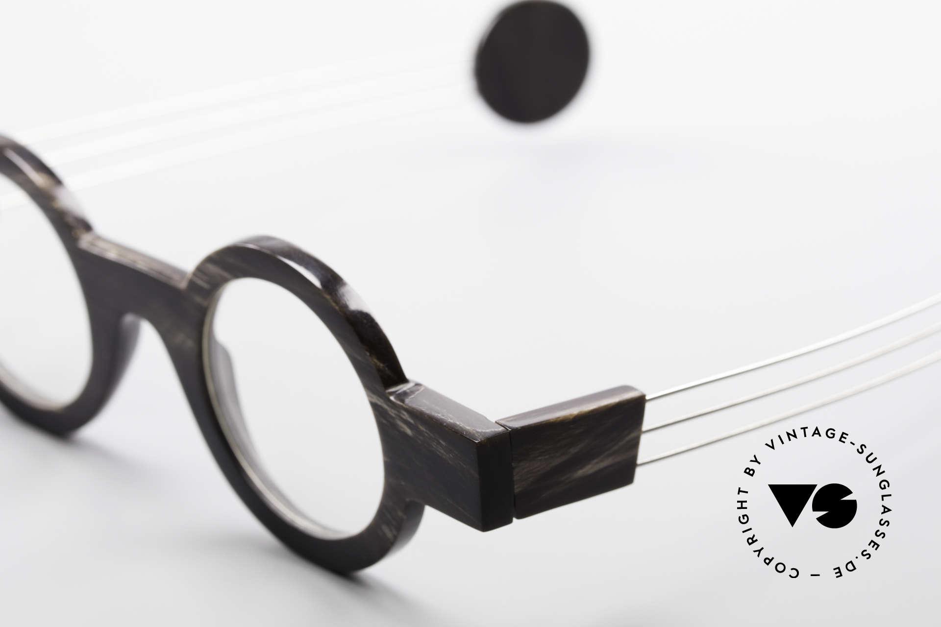 P. Klenk Bold 023 Horn Brille Eindrehbare Bügel, Größe: medium, Passend für Herren und Damen
