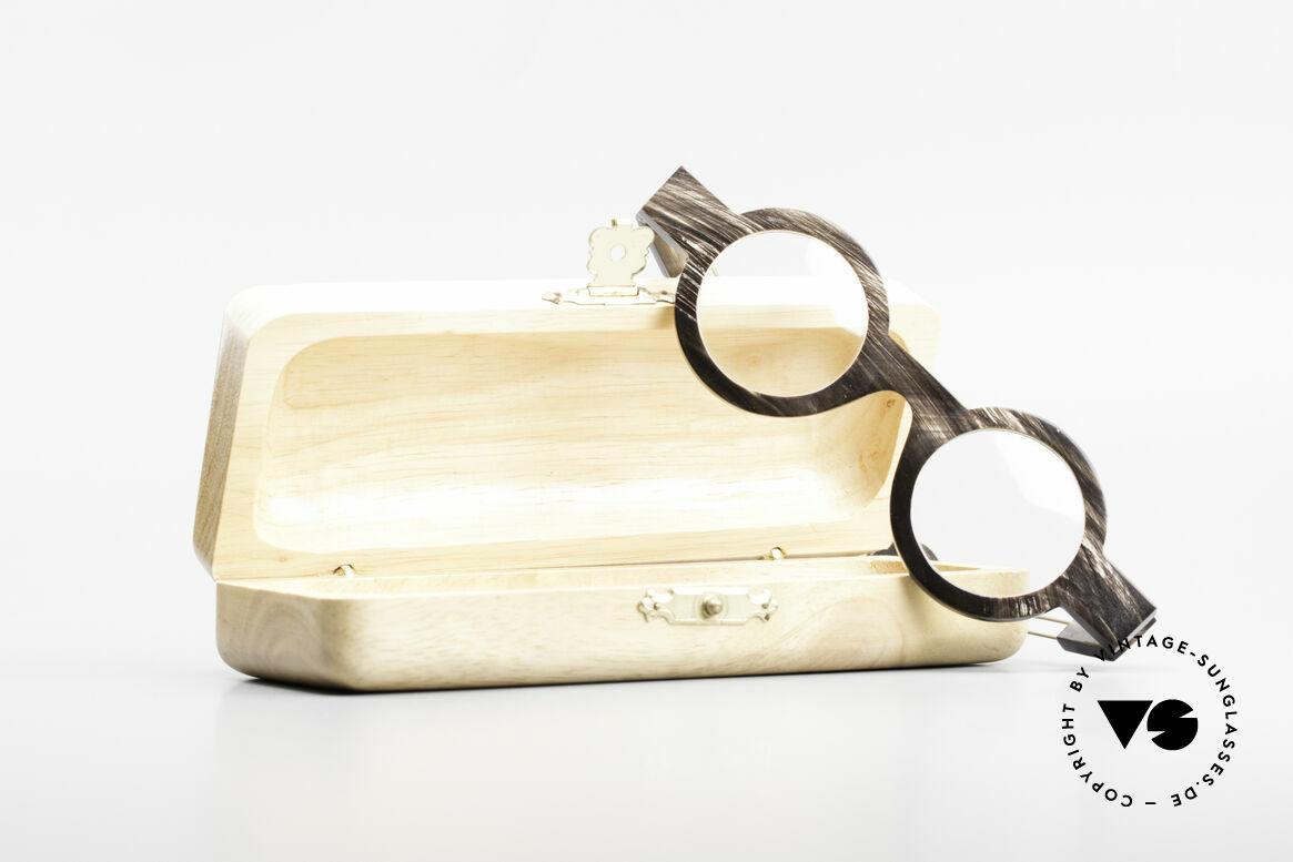 P. Klenk Bold 023 Horn Brille Eindrehbare Bügel