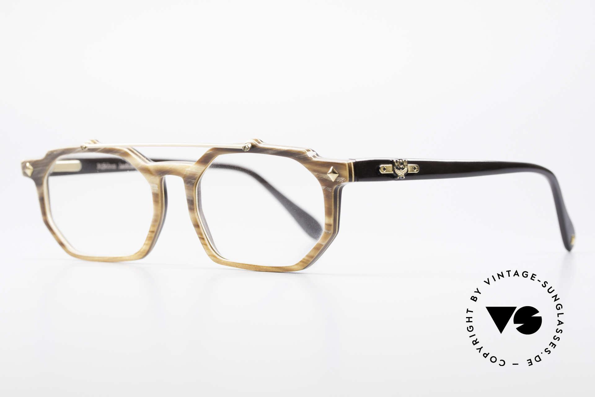 MCM München 301 Büffelhorn Vintage Brille 80er, unverwechselbar Michel Cromer München, MCM, Passend für Herren und Damen