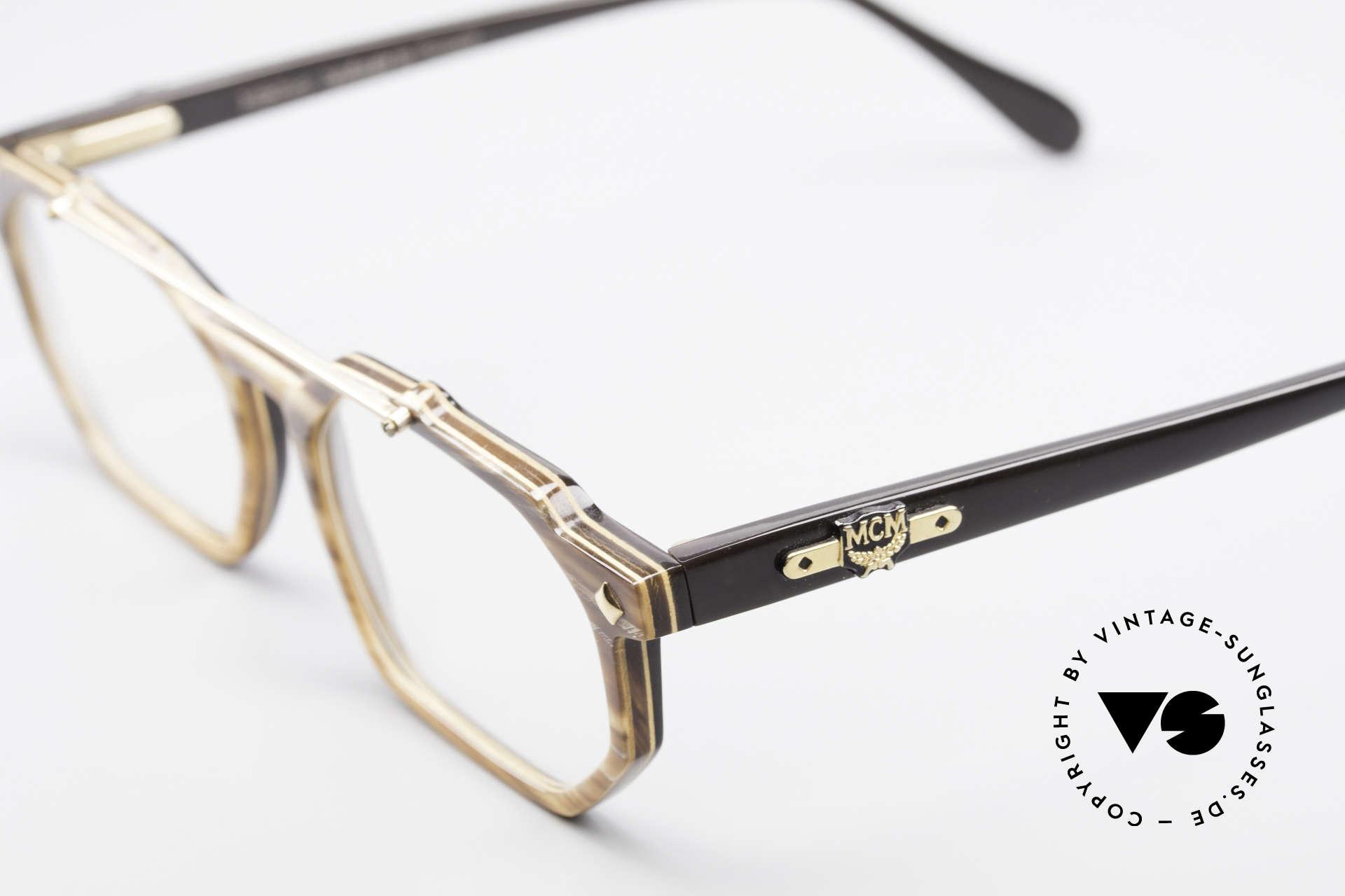 MCM München 301 Büffelhorn Vintage Brille 80er, wahres Designerstück in absoluter Top-Qualität, Passend für Herren und Damen