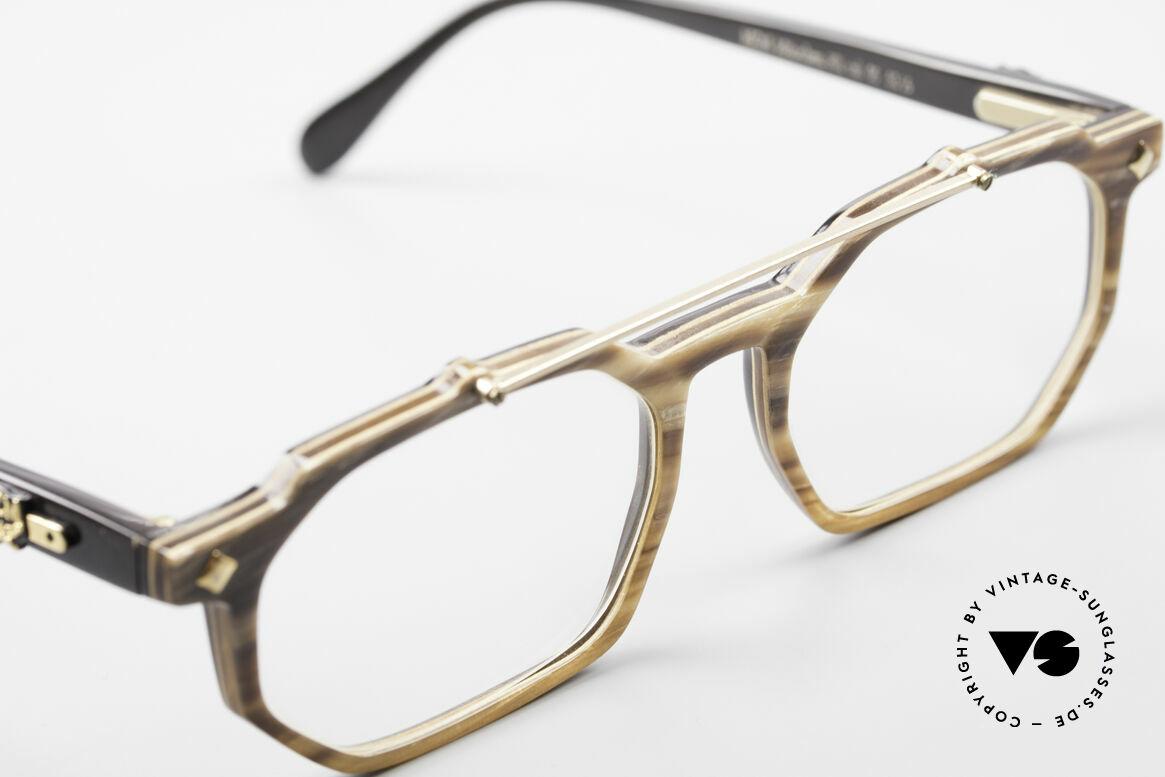 MCM München 301 Büffelhorn Vintage Brille 80er, ungetragen (wie alle unsere MCM vintage Brillen), Passend für Herren und Damen