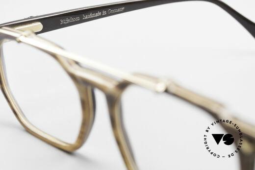 MCM München 301 Büffelhorn Vintage Brille 80er, KEINE Retrobrille; 80er Original + Longines Etui, Passend für Herren und Damen