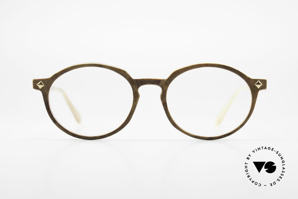 MCM München 300 Büffelhorn Panto Brille 80er, 1980er Jahre vintage Luxus-Hornbrille von MCM, Passend für Herren und Damen