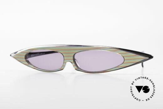 Alain Mikli 0104 / 215 Futuristische 80er Sonnenbrille Details