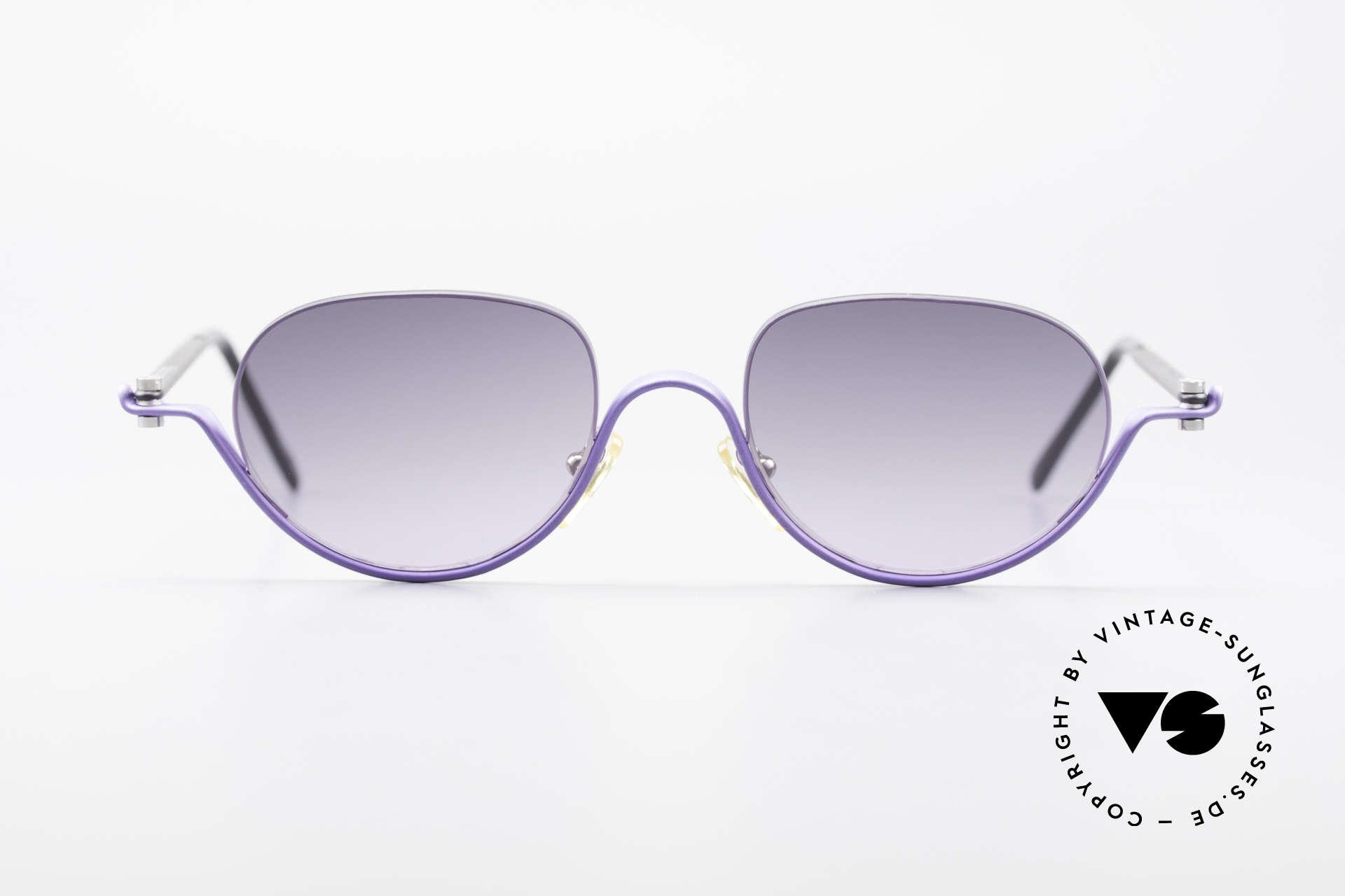 ProDesign No8 Gail Spence Design Brille, vintage Aluminium Fassung im Gail Spence Design, Passend für Damen