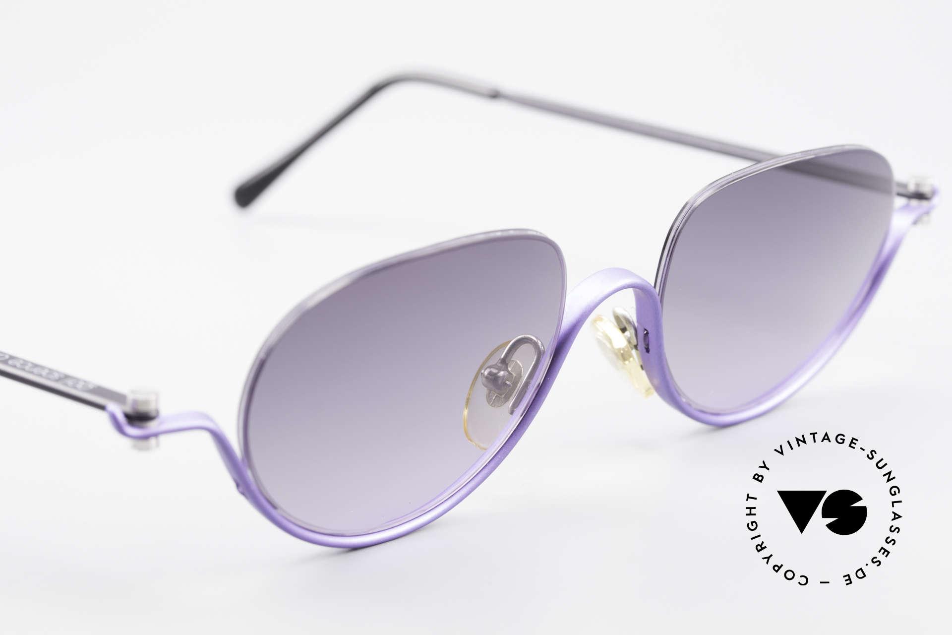 ProDesign No8 Gail Spence Design Brille, dieses ungetragene N°8 Modell stammt von ca. '95, Passend für Damen