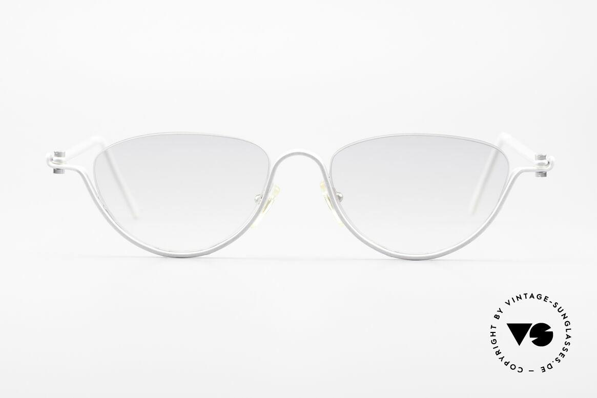 ProDesign No10 Gail Spence Design Brille, vintage Aluminium Rahmen im Gail Spence Design, Passend für Damen