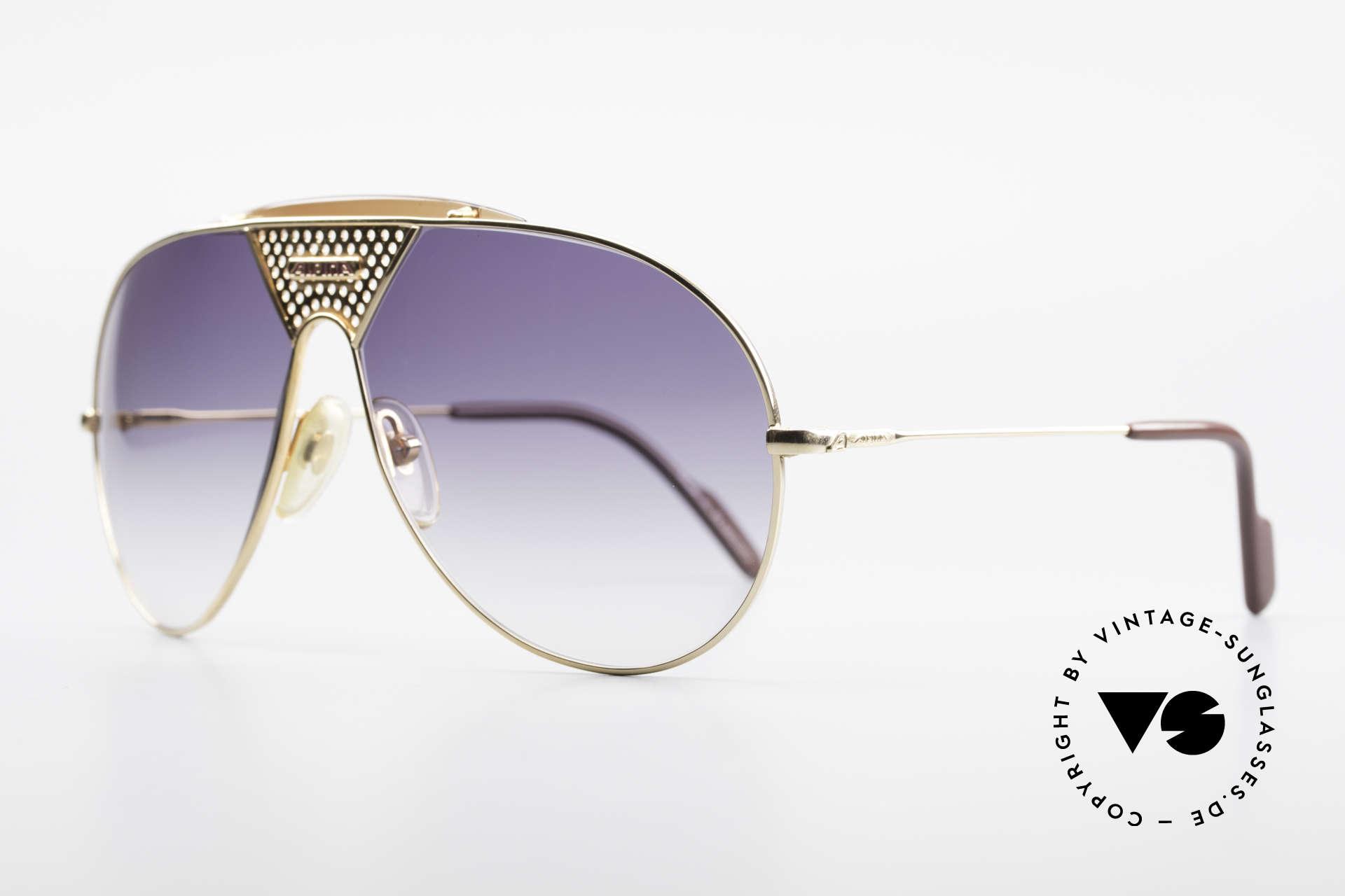 Alpina TR4 80er Miami Vice Sonnenbrille, altes W. Germany Original von 1986; Large Gr. 64-14, Passend für Herren