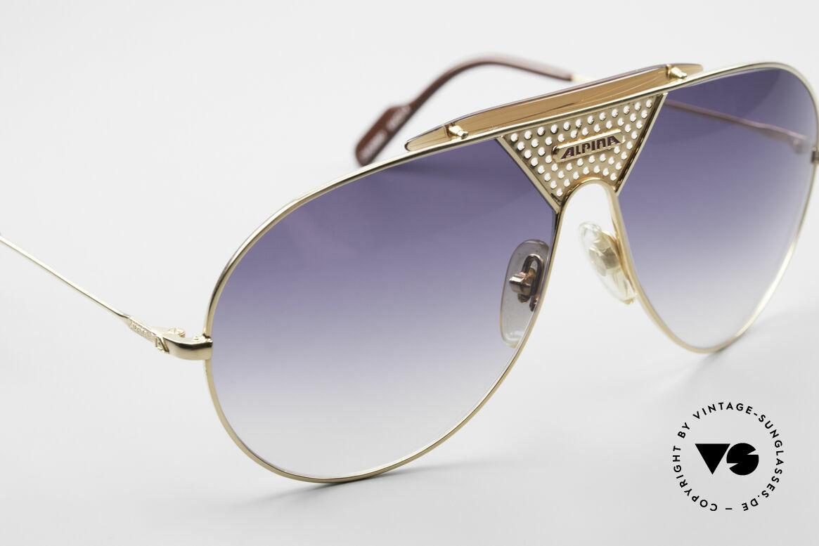 Alpina TR4 80er Miami Vice Sonnenbrille, Größe: large, Passend für Herren