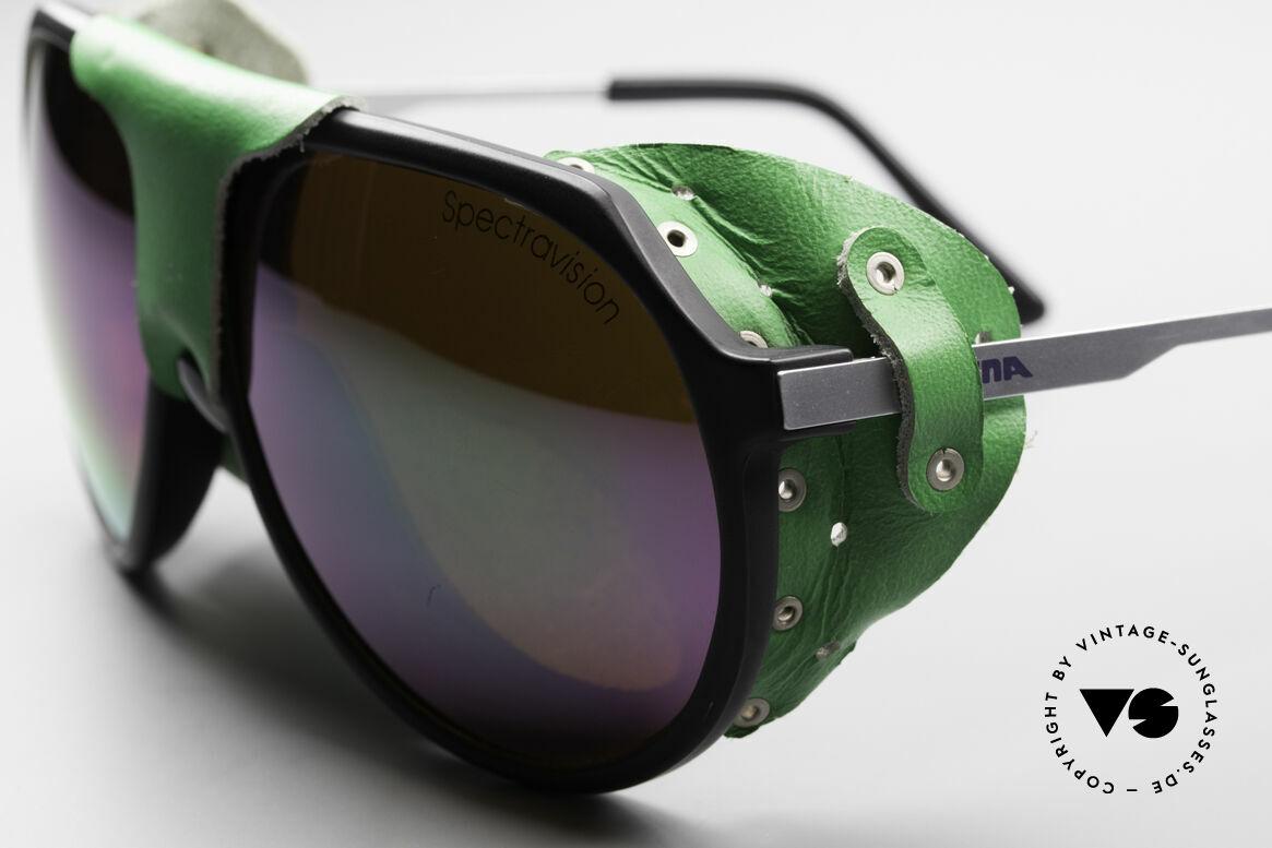 Alpina Profi Sports Glacier Sonnenbrille, 1980er Unikat mit abnehmbaren Augen- u. Nasenschutz, Passend für Herren und Damen