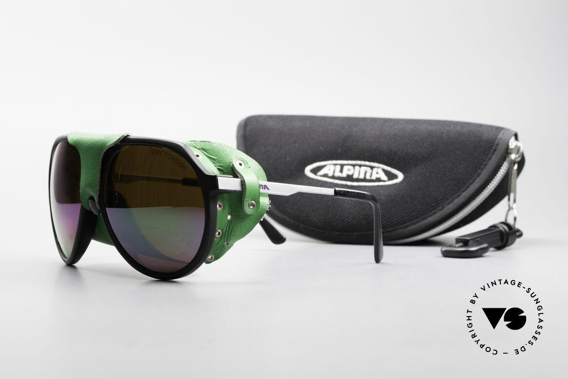 Alpina Profi Sports Glacier Sonnenbrille, Größe: medium, Passend für Herren und Damen