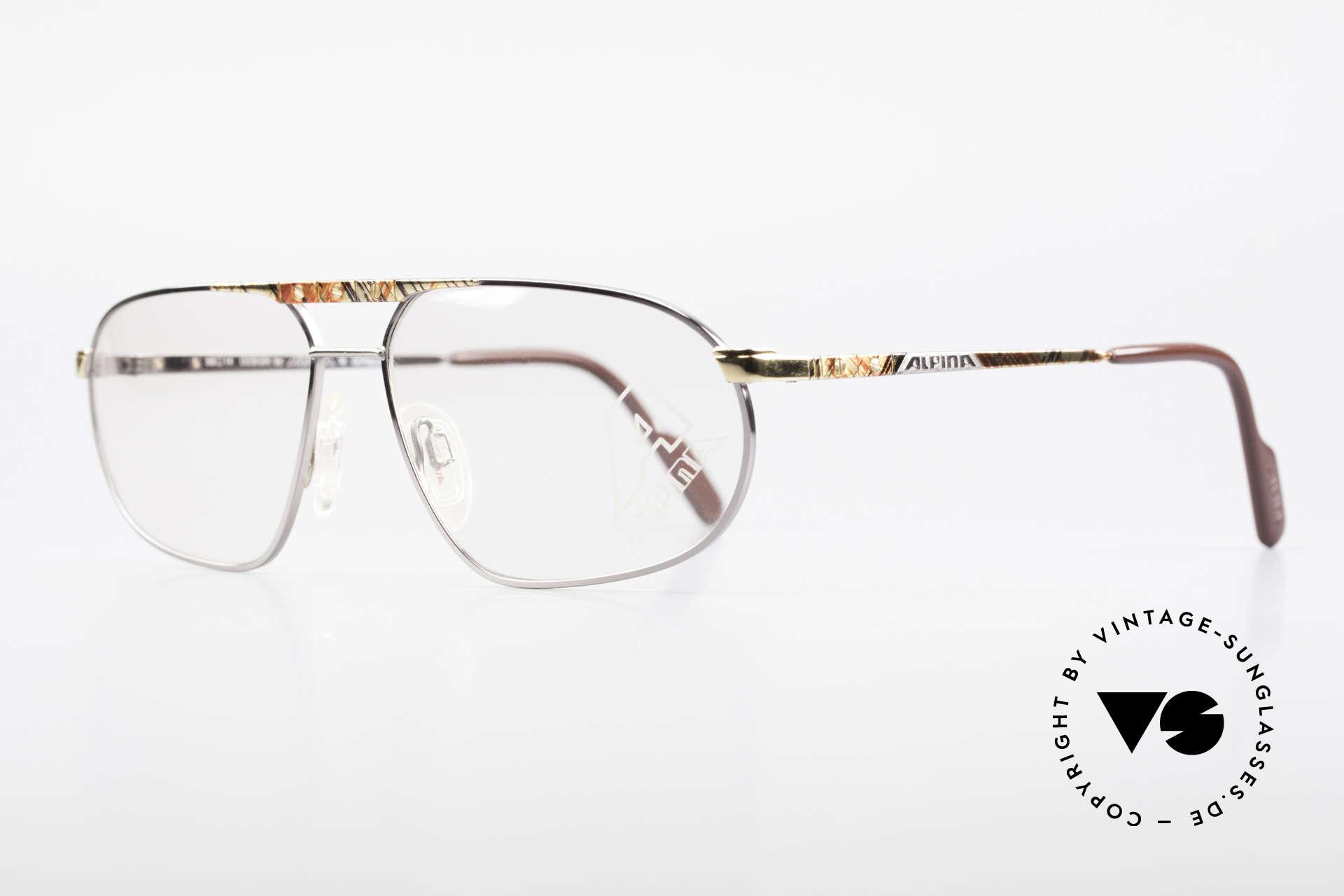 Alpina FM28 Vintage 80er Designer Fassung, markant männliche Form (vintage Herren-Brille), Passend für Herren
