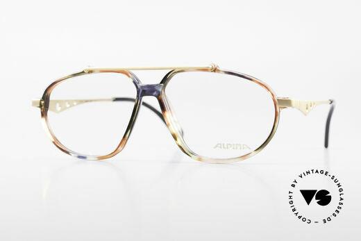 Alpina TFF461 90er Designer Brille Herren Details