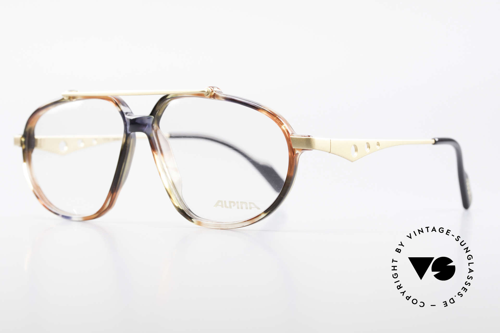 Alpina TFF461 90er Designer Brille Herren, außergewöhnliche Form (mal etwas ganz anderes), Passend für Herren