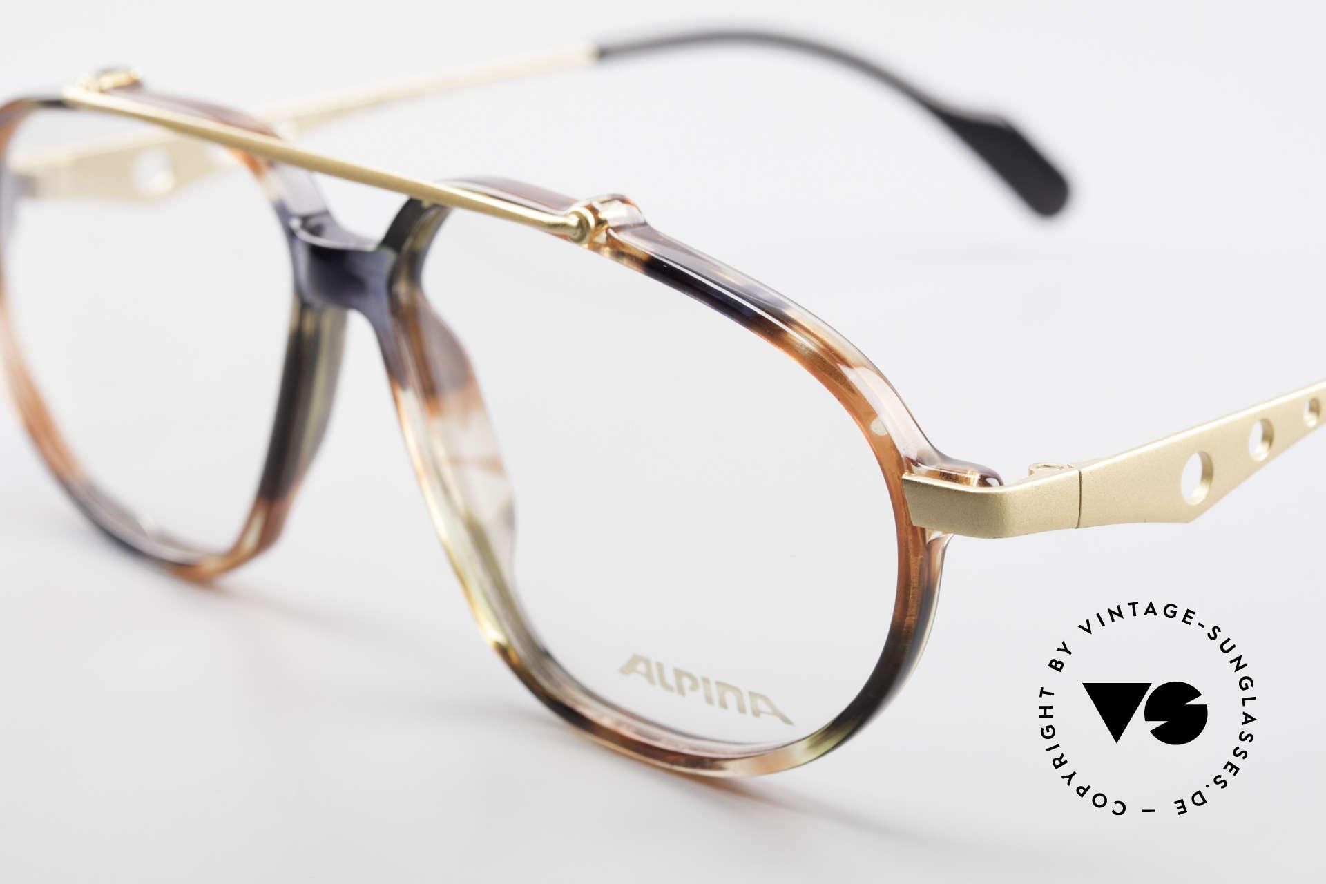 Alpina TFF461 90er Designer Brille Herren, beste Verarbeitung und sehr angenehm zu tragen, Passend für Herren