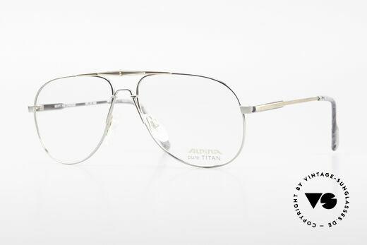 Alpina M1FT Vintage Aviator Titan Brille Details