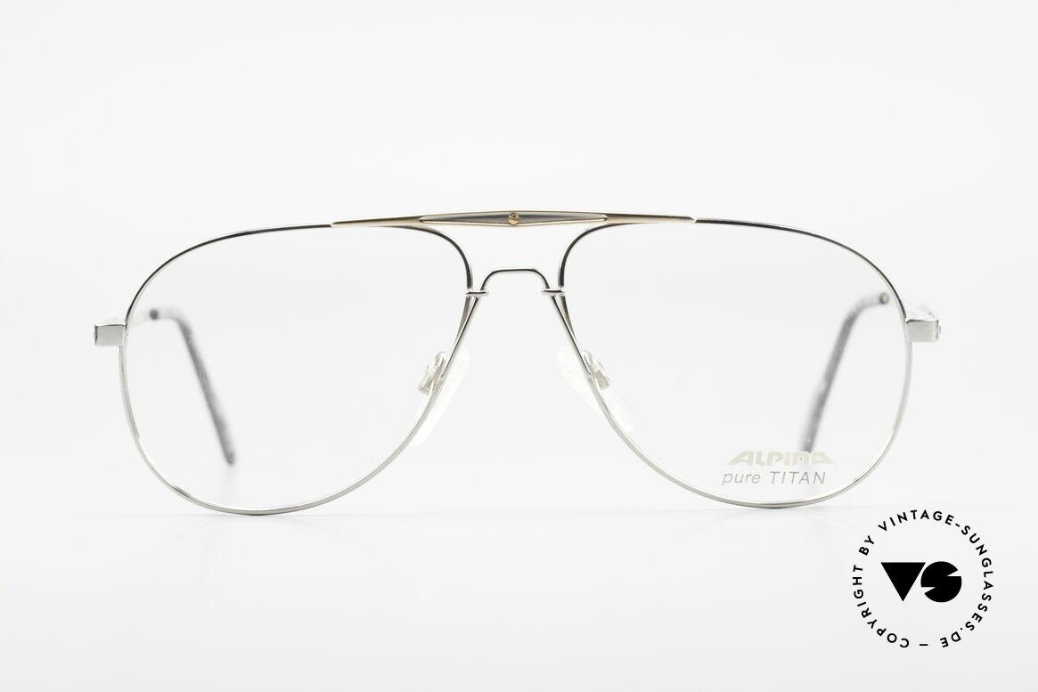 Alpina M1FT Vintage Aviator Titan Brille
