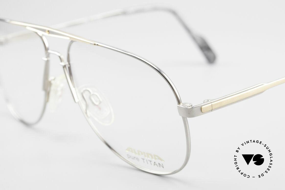 Alpina M1FT Vintage Aviator Titan Brille, ungetragen; wie alle unsere Fassungen von Alpina, Passend für Herren