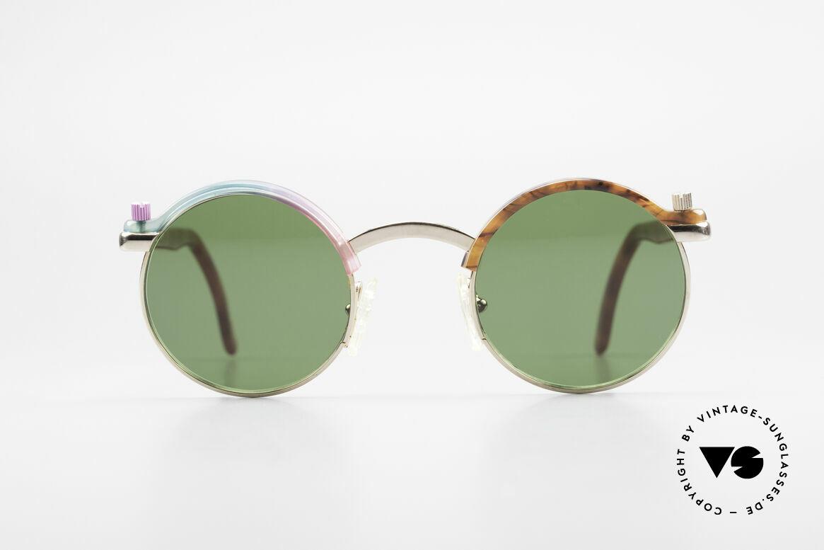 Poul Stig Circle Runde Vintage Panto Brille, Poul Stig Design vintage Brille, Modell CIRCLE, Passend für Herren und Damen