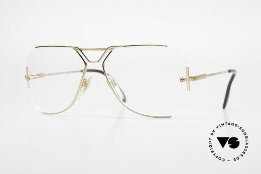 Cazal 722 Außergewöhnliche 80er Brille Details