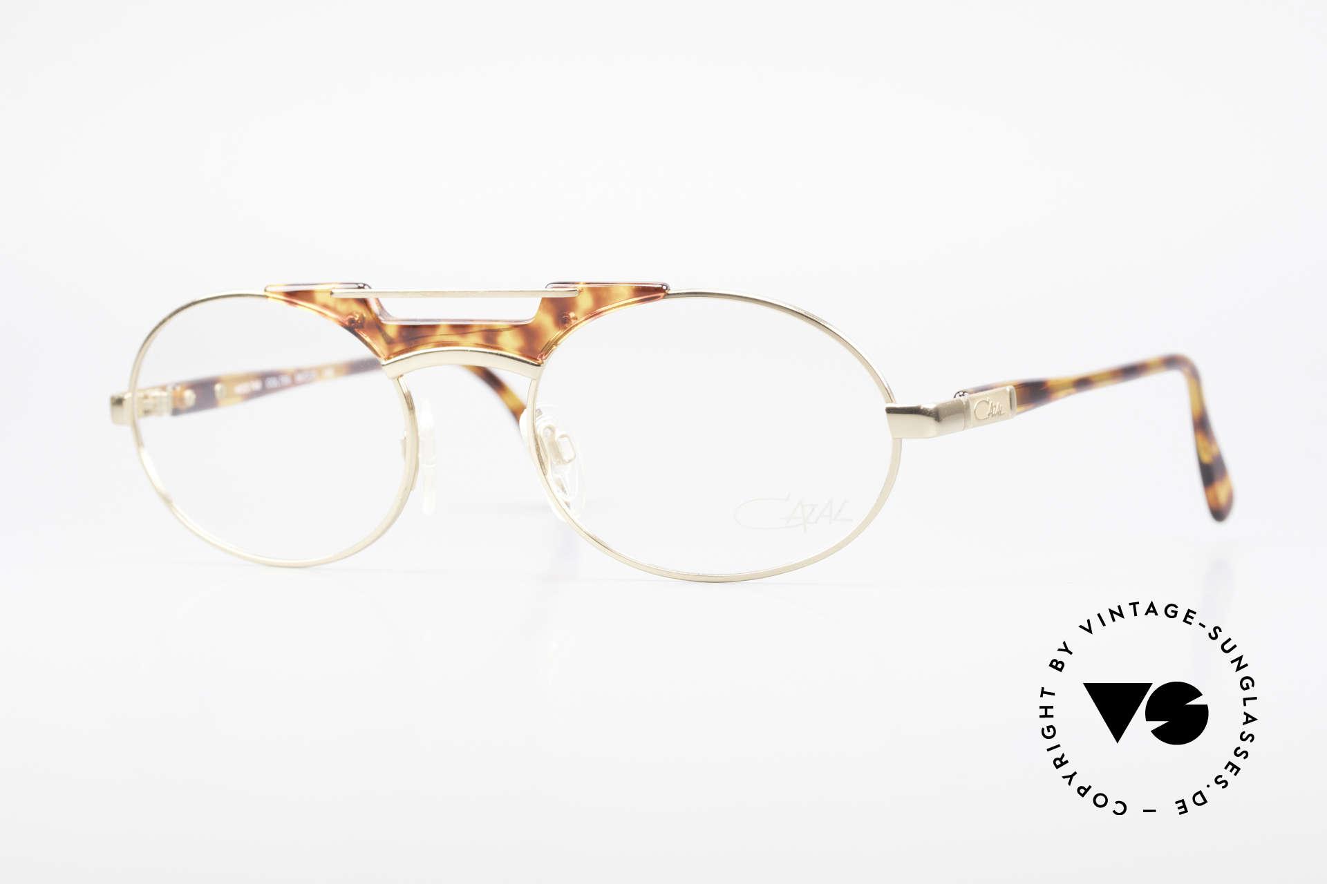 Cazal 749 Ovale Designer Brille Unisex, elegante CAZAL Designerbrille der frühen 90er, Passend für Herren und Damen