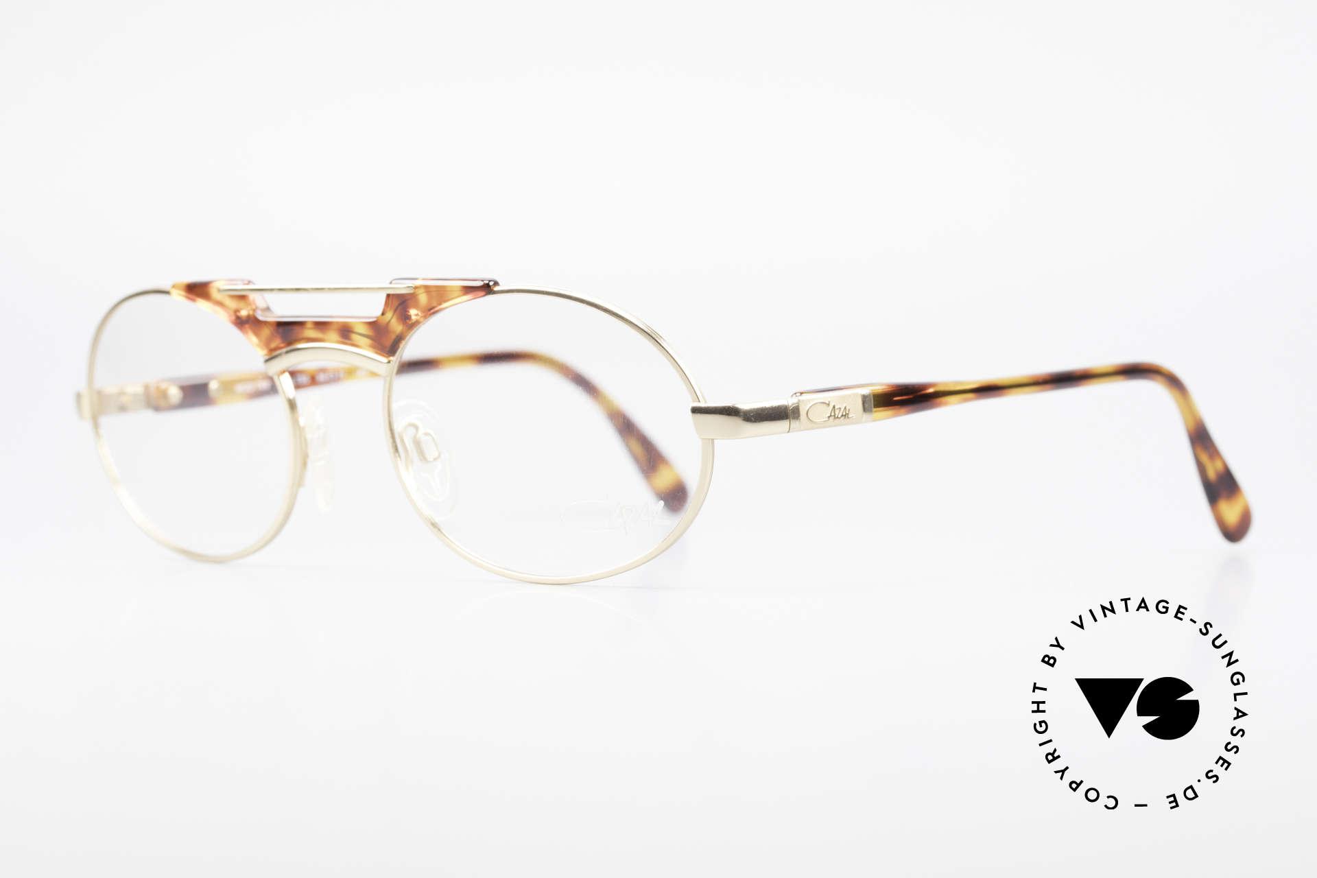 Cazal 749 Ovale Designer Brille Unisex, typische Materialkombination der damaligen Zeit, Passend für Herren und Damen