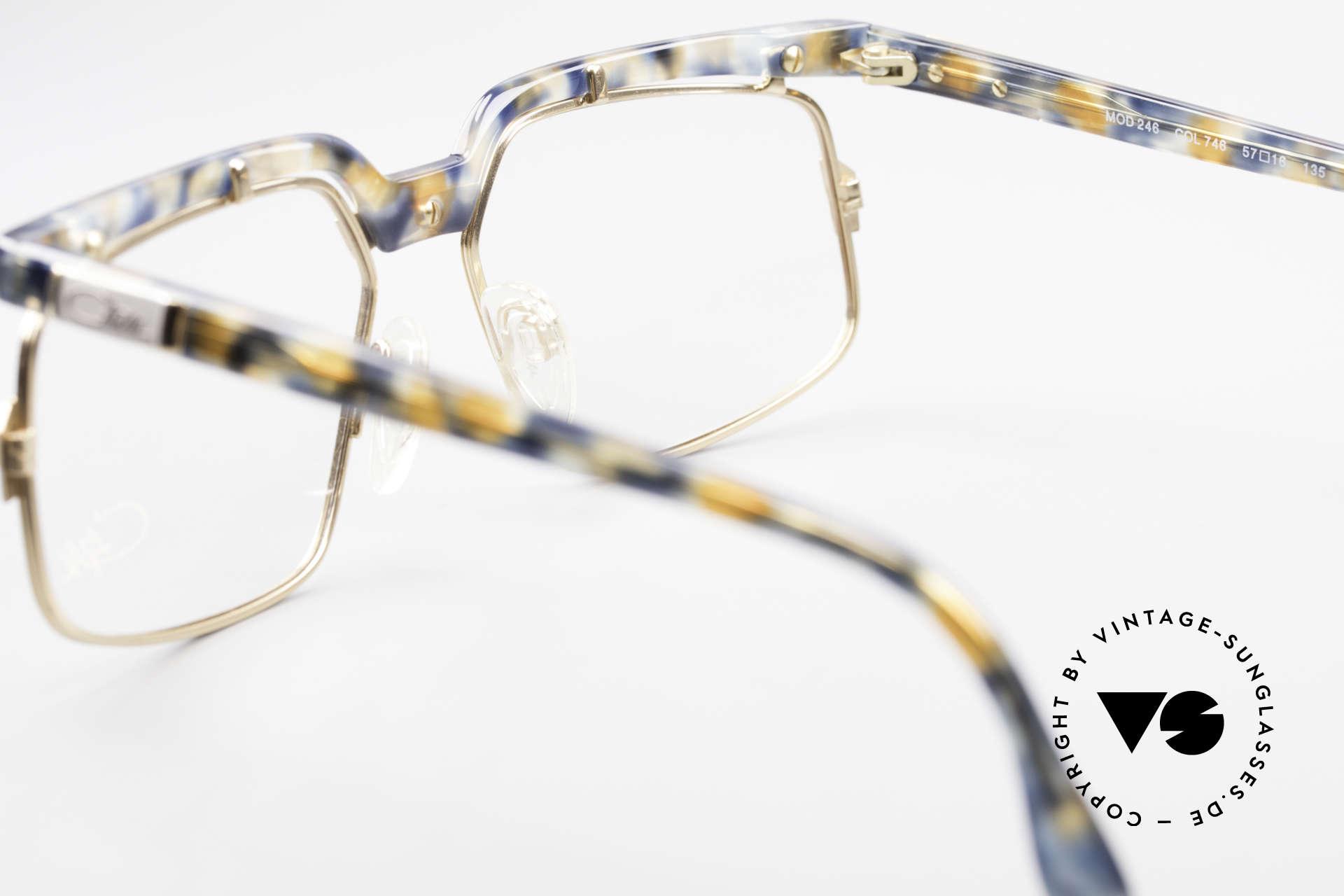 Cazal 246 Außergewöhnliche 90er Cazal, CAZAL DEMO Gläser können beliebig ersetzt werden, Passend für Herren und Damen
