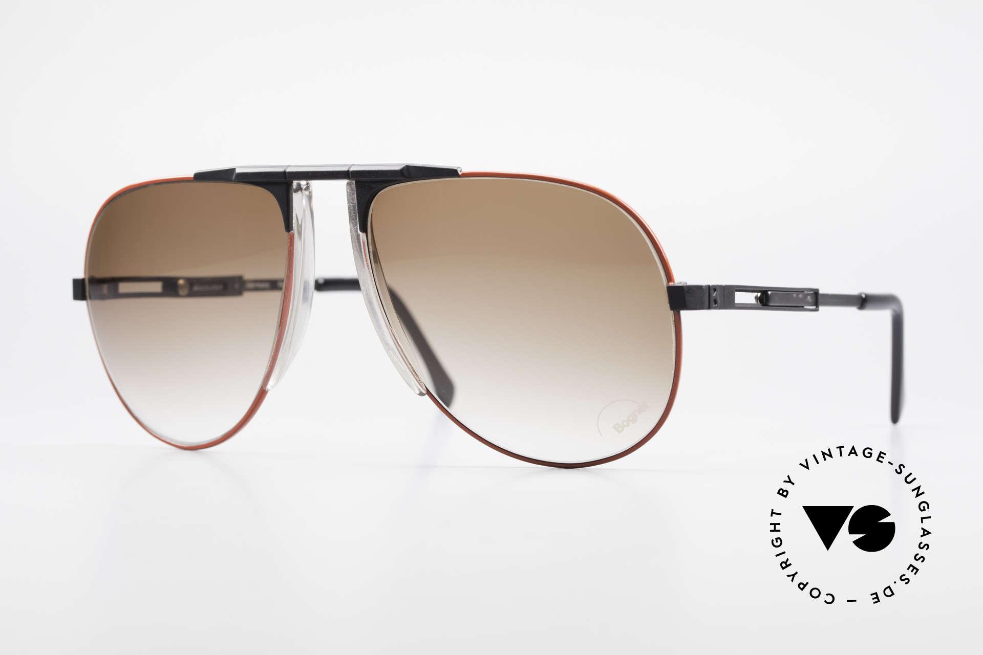 Willy Bogner 7011 Einstellbare 80er Sonnenbrille, die Bestseller Sonnenbrille vom Ski-Ass Willy Bogner, Passend für Herren