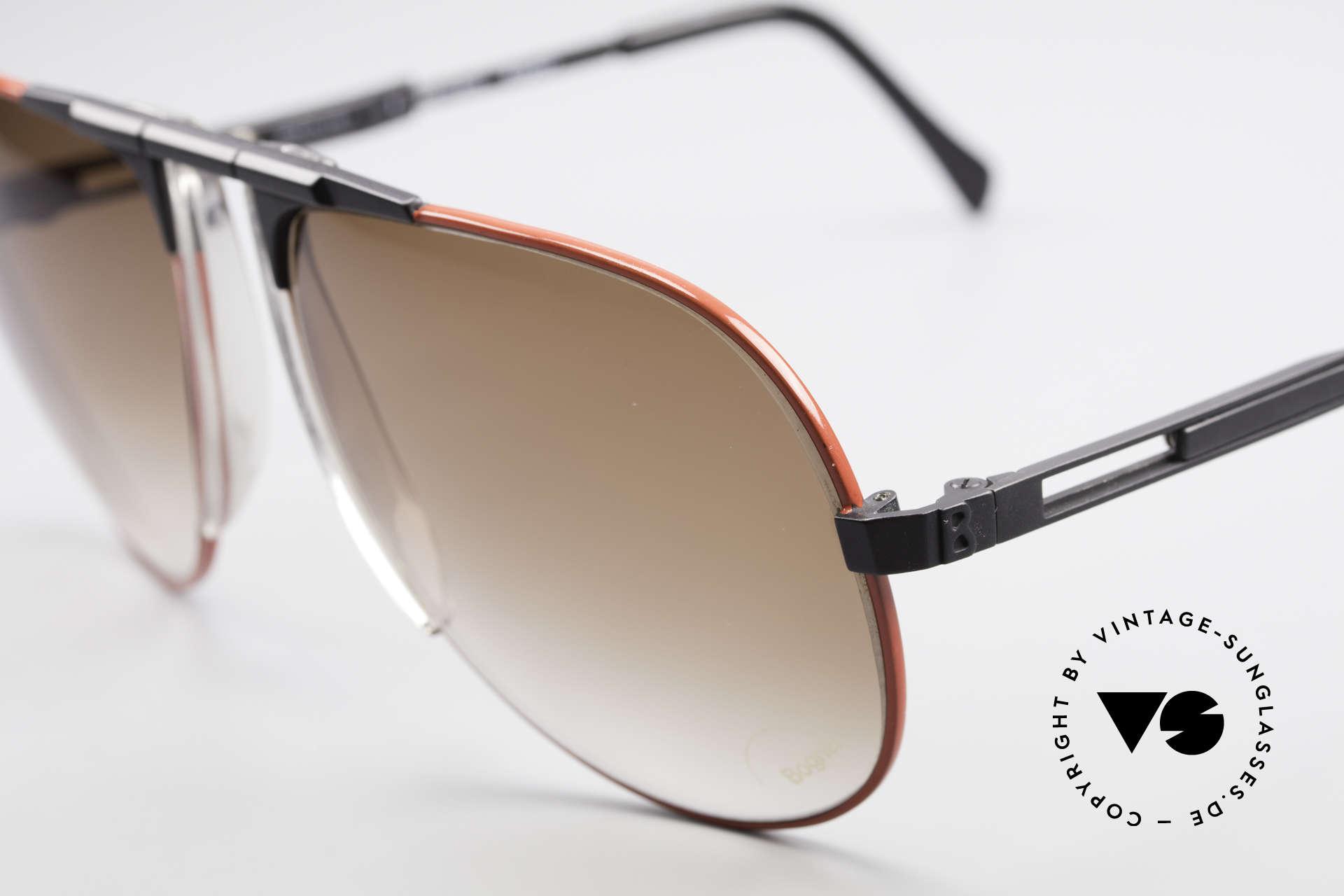 Willy Bogner 7011 Einstellbare 80er Sonnenbrille, 7011 = ähnlich der James Bond Bogner Brille Mod. 7003, Passend für Herren