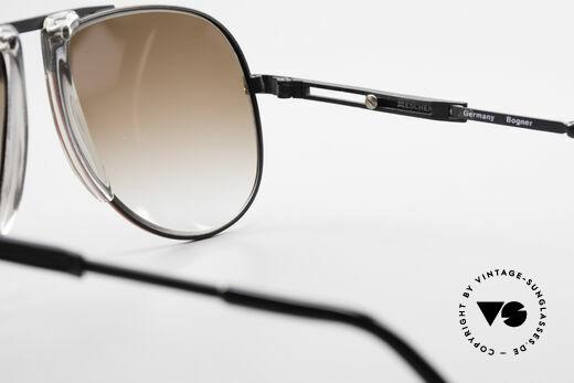 Willy Bogner 7011 Einstellbare 80er Sonnenbrille, KEINE RetroBrille; ein vintage ORIGINAL + Bogner Etui, Passend für Herren