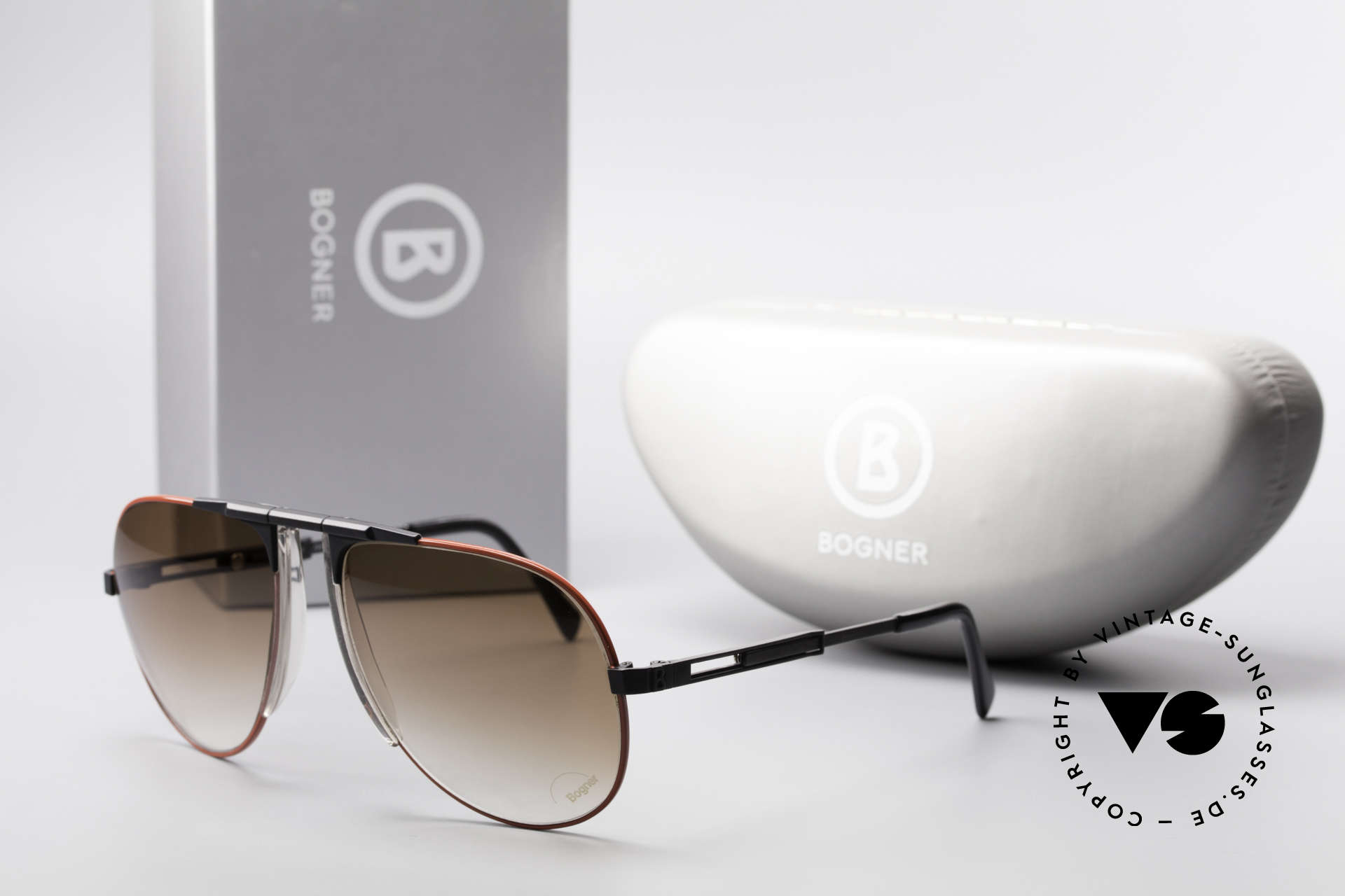 Willy Bogner 7011 Einstellbare 80er Sonnenbrille, Größe: large, Passend für Herren