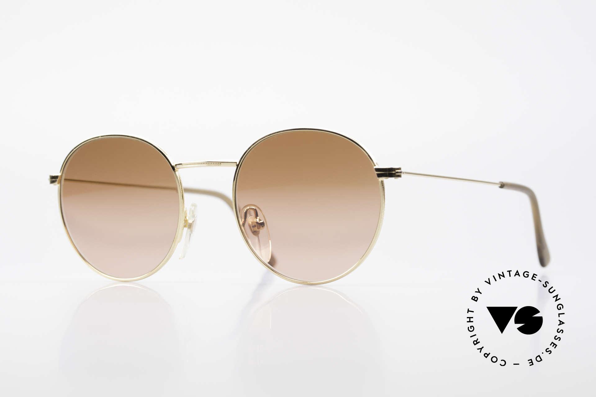 Serengeti Drivers 5346 Runde Autofahrer Brille, vintage Serengeti Drivers Sonnenbrille (High Contrast), Passend für Herren